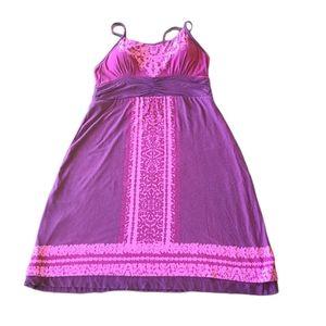 Athleta purple floral tank dress with built in bra